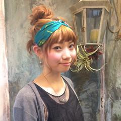 ヘアアレンジ ピュア ミディアム ショート ヘアスタイルや髪型の写真・画像