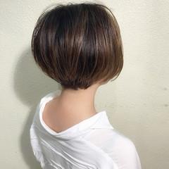 ストリート ショート ショートボブ バレイヤージュ ヘアスタイルや髪型の写真・画像
