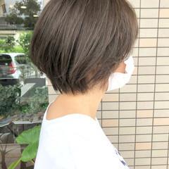 ナチュラル 小顔ショート くびれボブ ショートヘア ヘアスタイルや髪型の写真・画像
