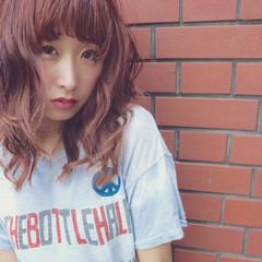 ストリート ゆるふわ ロング フェミニン ヘアスタイルや髪型の写真・画像