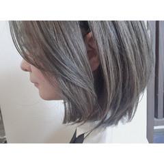グレージュ ブルージュ ナチュラル ブルーアッシュ ヘアスタイルや髪型の写真・画像