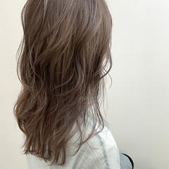 セミロング 極細ハイライト ヘアアレンジ ナチュラル ヘアスタイルや髪型の写真・画像