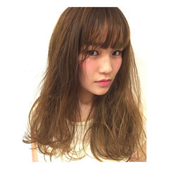 ハイライト ストリート 前髪あり ゆるふわ ヘアスタイルや髪型の写真・画像