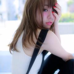 ロング ストレート 春 大人かわいい ヘアスタイルや髪型の写真・画像