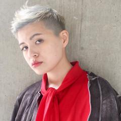 ハイライト ニュアンス ショート 小顔 ヘアスタイルや髪型の写真・画像