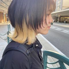 アッシュベージュ ウルフカット ブリーチカラー インナーカラー ヘアスタイルや髪型の写真・画像