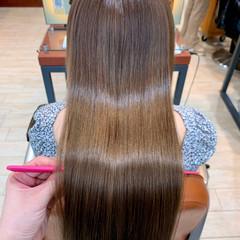 髪質改善カラー 髪質改善 ロングヘア ナチュラル ヘアスタイルや髪型の写真・画像