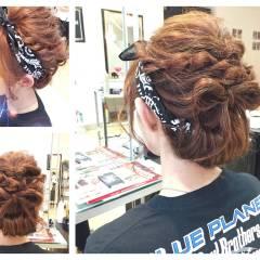 セミロング 編み込み ストリート 大人かわいい ヘアスタイルや髪型の写真・画像