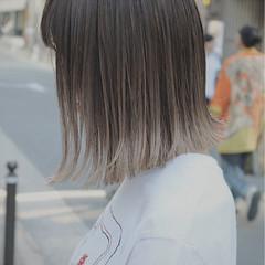 イルミナカラー 外国人風 ブリーチ ボブ ヘアスタイルや髪型の写真・画像