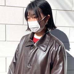 ミニボブ 簡単スタイリング ボブ ストリート ヘアスタイルや髪型の写真・画像