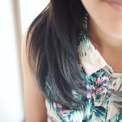 アッシュ ミディアム ストリート ブルージュ ヘアスタイルや髪型の写真・画像