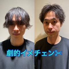 ショート メンズヘア ツーブロック メンズパーマ ヘアスタイルや髪型の写真・画像