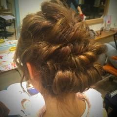 愛され 三つ編み ヘアアレンジ ストリート ヘアスタイルや髪型の写真・画像