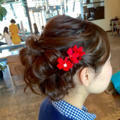 編み込み アップスタイル パーティ コンサバ ヘアスタイルや髪型の写真・画像
