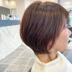 ショートボブ 透明感 ナチュラル ハイライト ヘアスタイルや髪型の写真・画像