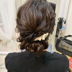 セミロング ヘアセット ヘアアレンジ 結婚式ヘアアレンジ ヘアスタイルや髪型の写真・画像