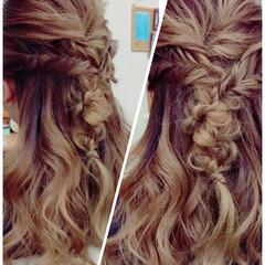 デート ヘアアレンジ ガーリー フィッシュボーン ヘアスタイルや髪型の写真・画像