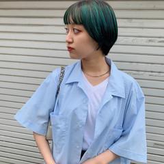 ヘアスタイル インナーカラー ショート ストリート ヘアスタイルや髪型の写真・画像