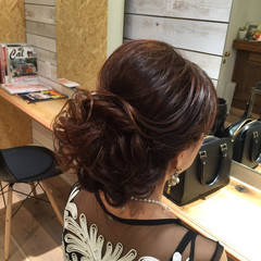 ロング アップスタイル ねじり エレガント ヘアスタイルや髪型の写真・画像