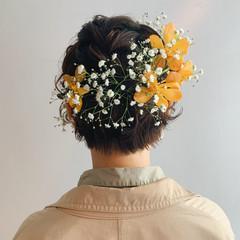 簡単ヘアアレンジ ヘアアレンジ ショート ナチュラル ヘアスタイルや髪型の写真・画像