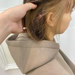 ショートヘア アッシュベージュ ストリート ミニボブ ヘアスタイルや髪型の写真・画像