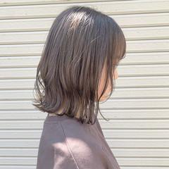 ボブ 切りっぱなしボブ 透明感カラー ショートボブ ヘアスタイルや髪型の写真・画像