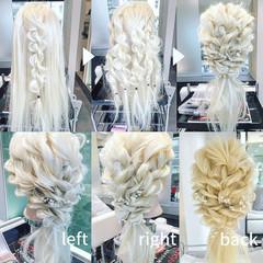 結婚式 ヘアアレンジ ツイスト 外国人風 ヘアスタイルや髪型の写真・画像