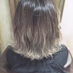 ボブ 色気 ガーリー アッシュ ヘアスタイルや髪型の写真・画像