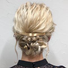 結婚式アレンジ エレガント ヘアアレンジ ハイトーンカラー ヘアスタイルや髪型の写真・画像