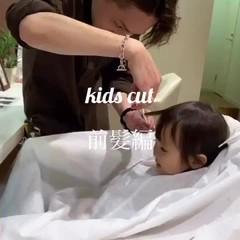 キッズ 前髪パッツン ガーリー ショート ヘアスタイルや髪型の写真・画像