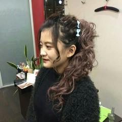 ロング ナチュラル ヘアアレンジ ポニーテール ヘアスタイルや髪型の写真・画像