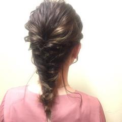 デート ナチュラル 簡単ヘアアレンジ 女子会 ヘアスタイルや髪型の写真・画像