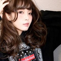 ガーリー アッシュ 外国人風 セミロング ヘアスタイルや髪型の写真・画像
