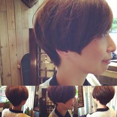 ショート ショートボブ ナチュラル マッシュ ヘアスタイルや髪型の写真・画像