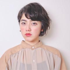 アッシュ ハイライト ショート 外国人風 ヘアスタイルや髪型の写真・画像