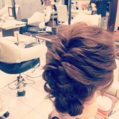 アップスタイル 編み込み 大人かわいい ショート ヘアスタイルや髪型の写真・画像