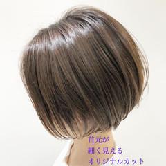 ショートヘア インナーカラー ショート 切りっぱなしボブ ヘアスタイルや髪型の写真・画像