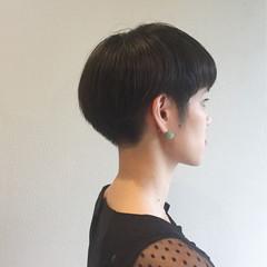 ナチュラル ボブ ショート ベリーショート ヘアスタイルや髪型の写真・画像