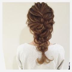 ヘアアレンジ 大人かわいい セミロング 結婚式 ヘアスタイルや髪型の写真・画像