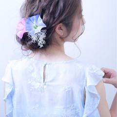 結婚式 フェミニン ヘアアレンジ デート ヘアスタイルや髪型の写真・画像