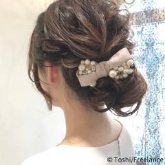 二次会 パーティ 結婚式 お呼ばれ ヘアスタイルや髪型の写真・画像