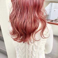 ベリー 透明感カラー ガーリー ロング ヘアスタイルや髪型の写真・画像