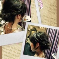 愛され モテ髪 ヘアアレンジ セミロング ヘアスタイルや髪型の写真・画像