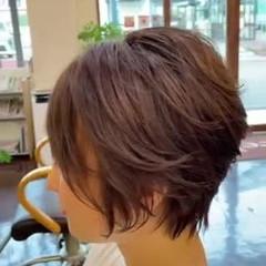 エアリー ショートボブ ショート 大人グラボブ ヘアスタイルや髪型の写真・画像
