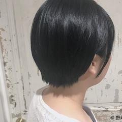 オフィス コンサバ ショート 黒髪 ヘアスタイルや髪型の写真・画像