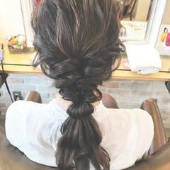 ヘアアレンジ 結婚式 デート ガーリー ヘアスタイルや髪型の写真・画像