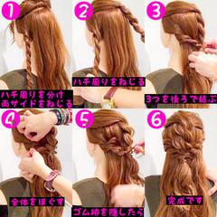 アウトドア ヘアアレンジ フェミニン ロング ヘアスタイルや髪型の写真・画像