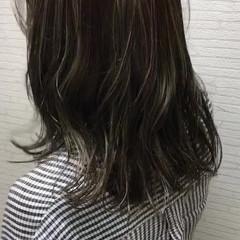 涼しげ ミディアム 夏 ハイライト ヘアスタイルや髪型の写真・画像
