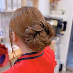 ロープ編み セミロング ナチュラル 簡単ヘアアレンジ ヘアスタイルや髪型の写真・画像