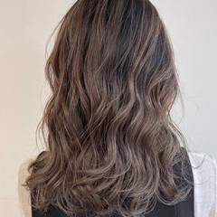 外国人風 セミロング 外国人風カラー ミルクティーブラウン ヘアスタイルや髪型の写真・画像